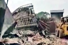 চট্টগ্রামে অবৈধ স্থাপনা উচ্ছেদ করেছে রেলওয়ে কর্তৃপক্ষ